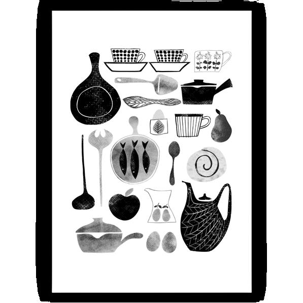 Alma & Co Scandinavian Retro Print