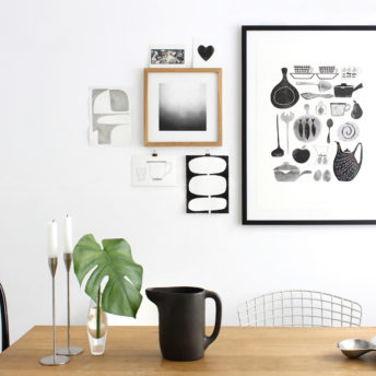 Scandinavian Retro screenprint art print Alma & Co