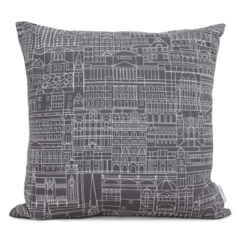 Alma & Co Melbourne Cushion White on Grey